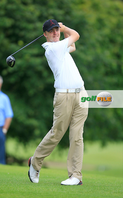 Thomas Mulligan (Laytown &amp; Bettystown) on the 17th tee during Round 1 of the Irish Boys Under 15 Amateur Open Championship at the West Waterford Golf Club on Tuesday 20th August 2013 <br /> Picture:  Thos Caffrey/ www.golffile.ie
