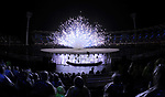 Fireworks. Opening Ceremony. XXI Commonwealth games. Carrara Stadium. Gold Coast 2018. Queensland. Australia. 04/04/2018. ~ MANDATORY CREDIT Garry Bowden/SIPPA - NO UNAUTHORISED USE - +44 7837 394578