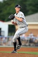 August 23 2008:  Pitcher Eddie Burns (50) of the Mahoning Valley Scrappers, Class-A affiliate of the Cleveland Indians, during a game at Dwyer Stadium in Batavia, NY.  Photo by:  Mike Janes/Four Seam Images