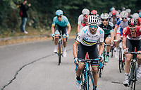 World Champion Alejandro Valverde (ESP/Movistar) attacking from the bunch on the climb towards the finish (during the 1st passage)<br /> <br /> 99th Milano - Torino 2018 (ITA)<br /> from Magenta to Superga: 200km