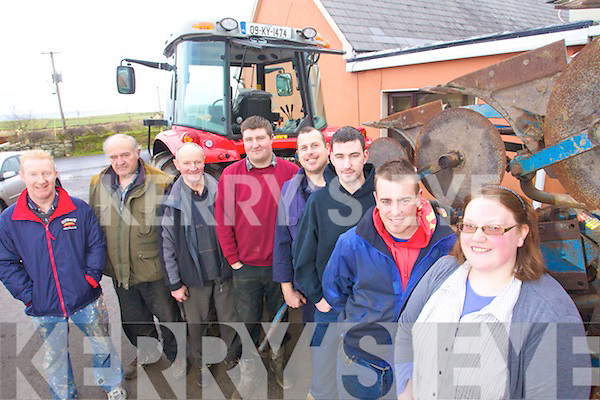 NEW CHALLENGE: Kerry Ploughing Association are looking for newcomers for a new ploughing competition to join Paul Thornton and Edmond Burke which will take place in January. Back l-r: Michael Hanlon, Thomas Healy Chairperson Kerry Ploughing, Michael P Donegan, Colm Dineen, Cormac O'Connor and Martina Flynn.