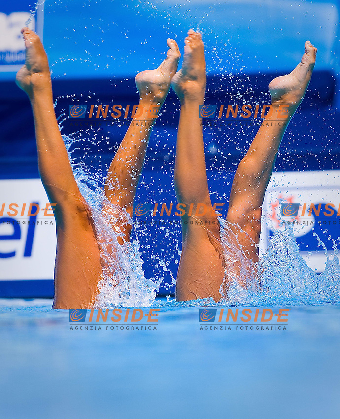 Roma 21th July 2009 - 13th Fina World Championships From 17th to 2nd August 2009..Tecnical Duet..Canada..Little Tracy..Marcotte Elise..photo: Roma2009.com/InsideFoto/SeaSee.com