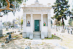 LOS ANGELES - MAY 31: Amber Carvaly and Caitlin Doughty created Undertaking LA to offer other more natural options for burials. They pose for a portrait in the Angeles Rosedale Cemetery in Los Angeles, California May 31, 2015.  (Photo by Kendrick Brinson)