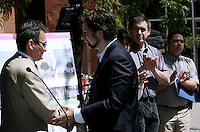 Montreal (Qc) CANADA - June  2010 - the leader of Projet MontrÈal, Richard Bergeron announce restriction to non resident's car circulation in the Plateau Mont-Royal