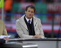 12th May 2012, Berlin, Germany; Borussia Dortmund versus FC Bayern Munich, in the Olympiastadion Berlin. Jens Lehmann acts as a commentator for the match  ; Lehmann has been named to replace the outgoing Jurgen Klinsmann, as coach of Hertha Belin FC of the German Bundesliga team