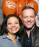 """Jen Bender and Jason Moore attend the 'Avenue Q"""" 13th Anniversary and 3,QQQ Performance with Bar Mitzvah Party at the New World Stages on January 12, 2017 in New York City."""