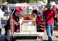 The AXE makes it's way to Stanford Stadium before Saturday's, November 23, 2013, Big Game at Stanford University.