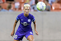 Lianne Sanderson (10) of the Orlando Pride has her eye on a loose ball in a game against the Houston Dash on Friday, May 20, 2016 at BBVA Compass Stadium in Houston Texas. The Orlando Pride defeated the Houston Dash 1-0.
