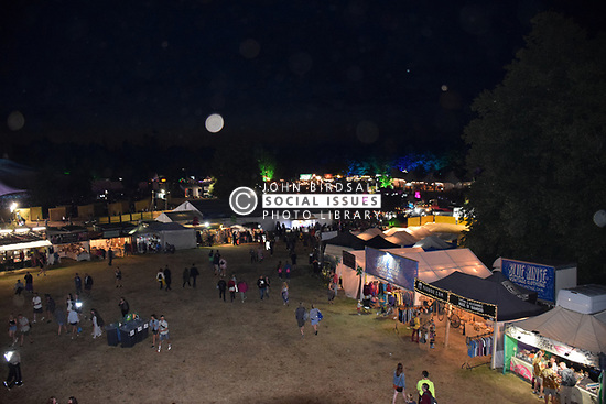 Latitude Festival, Henham Park, Suffolk, UK July 2019. Arena at night