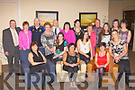 Killorglin Family Resource centre enjoy their Christmas party in the Brehon Hotel Killarney on Friday night front row l-r: Margaret Mangan, Kerry Anne Dwyer, Margaret Wrenn, Sandra Courtney, Kathleen Morris, Eileen Quirke. Back row: Teddy Cronin, Maureen Crowe, Joesph Crowe, Mary O'Sullivan, Paul O'Raw, Kathleen Bailey, Philippa O'Leary, Maureen Gamble, Anthony O'Sullivan, Bernie O'Sullivan, Helena O'Sullivan and Tracey Cronin