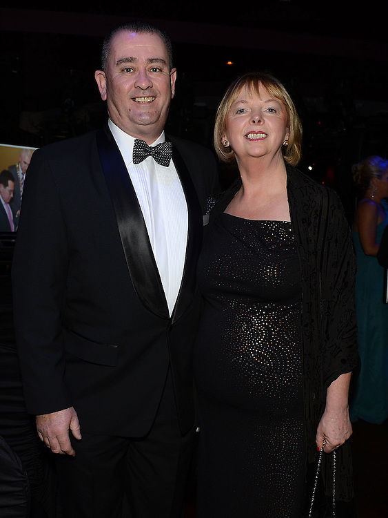 Niall Edwards and Carmel McCarthy pictured at the Business Excellence Awards in Earth Night Club at the Westcourt Hotel. Photo:Colin Bell/pressphotos.ie