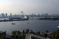 Rainbow bridge at Tokyo Bay, Japan
