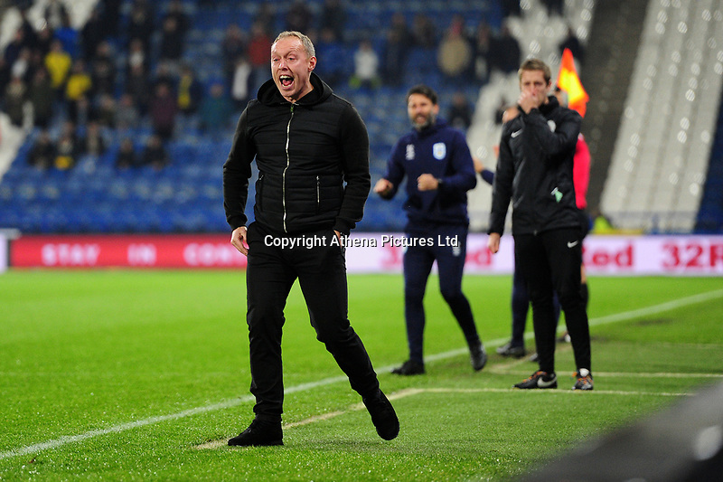 Steve Cooper Head Coach of Swansea City in action during the Sky Bet Championship match between Huddersfield Town and Swansea City at The John Smith's Stadium in Huddersfield, England, UK. Tuesday 26 November 2019