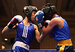 UC Davis' Steve Le Cal defeated Abilardo Reyes of Cal Berkeley during the Nevada Boxing bouts at the Eldorado in Reno, Nev., on Friday, Feb. 22, 2013..Photo by Cathleen Allison