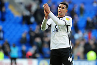 Ben Cabango of Swansea City applauds the fans at the final whistle during the Sky Bet Championship match between Cardiff City and Swansea City at the Cardiff City Stadium in Cardiff, Wales, UK. Sunday 12 January 2020