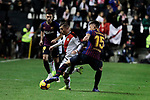 Rayo Vallecano's Jose Angel Pozo and FC Barcelona's Clement Lenglet during La Liga match between Rayo Vallecano and FC Barcelona at Vallecas Stadium in Madrid, Spain. November 03, 2018. (ALTERPHOTOS/A. Perez Meca)