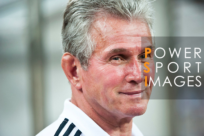 GUANGZHOU, GUANGDONG - JULY 26:  Head coach Jupp Heynckes of Bayern Munich smiles before a friendly match against VfL Wolfsburg as part of the Audi Football Summit 2012 on July 26, 2012 at the Guangdong Olympic Sports Center in Guangzhou, China. Photo by Victor Fraile / The Power of Sport Images