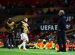 Manchester United manager Jose Mourinho watches the match as Wayne Rooney warms up during the UEFA Europa League match at Old Trafford Stadium, Manchester. Picture date: September 29th, 2016. Pic Matt McNulty/Sportimage