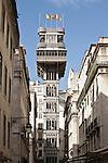 Elevador (Lift) de Carmo (auch Santa Justa), Lissabon, Portugal