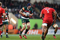 Will Spencer of Leicester Tigers in possession. Gallagher Premiership match, between Leicester Tigers and Saracens on November 25, 2018 at Welford Road in Leicester, England. Photo by: Patrick Khachfe / JMP