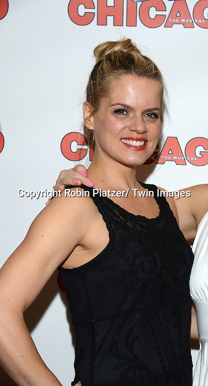 "Amy Spanger attends ""Chicago""  becoming the 2nd Longest Running Show on Broadway at performance 7486 on November 23, 2014 at the Ambassodor Theatre in New York City."