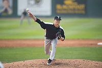 Grand Junction Rockies starting pitcher Ryan Feltner (28) delivers a pitch during a Pioneer League game against the Helena Brewers at Kindrick Legion Field on August 19, 2018 in Helena, Montana. The Grand Junction Rockies defeated the Helena Brewers by a score of 6-1. (Zachary Lucy/Four Seam Images)