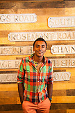 BBERMUDA, Hamilton. Chef Marcus Samuelsson shopping at the shop Urban Cottage located on Front Road in downtown Hamilton.