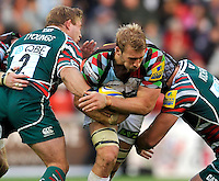 Leicester, England. Chris Robshaw (Captain) of Harlequins in action during the Aviva Premiership match between Leicester Tigers and Harlequins at Welford Road on September 22, 2012 in Leicester, England.