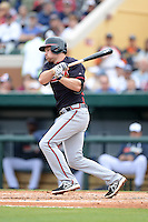 Atlanta Braves infielder Philip Gosselin (69) during a spring training game against the Detroit Tigers on February 27, 2014 at Joker Marchant Stadium in Lakeland, Florida.  Detroit defeated Atlanta 5-2.  (Mike Janes/Four Seam Images)