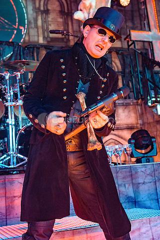 CLARKSTON, MI - JULY 11: King Diamond performs during the Rockstar Energy Drink Mayhem Festival at DTE Energy Music Theatre on July 11, 2015 in Clarkston, Michigan. Photo Credit: Chris Schwegler / Retna Ltd. /MediaPunch