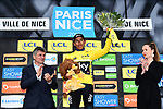 Race leader Yellow Jersey Egan Bernal (COL) Team Sky wins the 77th edition of Paris-Nice 2019 at the end of Stage 8 running 110km from Nice to Nice, France. 16th March 2019<br /> Picture: ASO/Alex Broadway | Cyclefile<br /> All photos usage must carry mandatory copyright credit (&copy; Cyclefile | ASO/Alex Broadway)