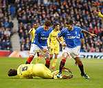 29.11.18 Rangers v Villarreal: Daniel Candeias tangles with Santiago Caseres leading to a second booking from the ref and an eventual sending off