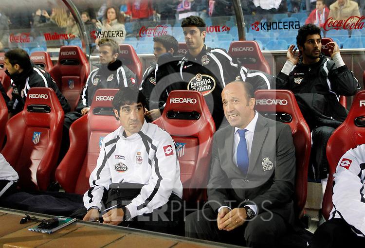 Madrid, (12/12/10).- estadio Vicente Calderon..15ª Jornada del Campeonato Nacional de Liga..Atletico d Madrid 2 - R.C.D. Coruna 0.Miguel Angel Lotina...©Alex Cid-Fuentes/ALFAQUI..