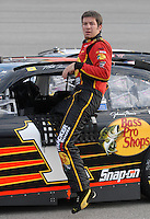 May 4, 2007; Richmond, VA, USA; Nascar Nextel Cup Series driver Martin Truex Jr (1) during qualifying for the Jim Stewart 400 at Richmond International Raceway. Mandatory Credit: Mark J. Rebilas