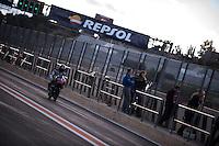 Zulfahmi Khairuddin in pit line at pre season winter test IRTA Moto3 & Moto2 at Ricardo Tormo circuit in Valencia (Spain), 11-12-13 February 2014