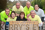 Getting into shape for the Gneeveguilla AC Jack O'Keeffe annual road race between Kiskeam and Boherbee which will on Easter Monday are front row l-r: Sandra Fleming, Nora Murphy, Michael O'Connor. Back row: James O'Mahony, Paddy O'Donoghue, Robert Tate and Karen O'Shea