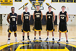 November 26, 2016- Tuscola, IL- The 2016-2017 Tuscola Warrior Basketball Seniors. From left are Lukas Hortin, Jaret Heath, Raymond Kerkhoff, Kaleb Williams, and Zach Kibler.  [Photo: Douglas Cottle]
