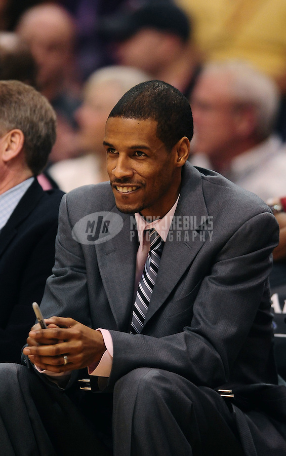 Jan. 26, 2011; Phoenix, AZ, USA; Charlotte Bobcats assistant coch Stephen Silas against the Phoenix Suns at the US Airways Center. The Bobcats defeated the Suns 114-107. Mandatory Credit: Mark J. Rebilas-