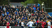 Preston North End fans watch their team in action <br /> <br /> Photographer Kevin Barnes/CameraSport<br /> <br /> The Carabao Cup - Accrington Stanley v Preston North End - Tuesday 8th August 2017 - Crown Ground - Accrington<br />  <br /> World Copyright &copy; 2017 CameraSport. All rights reserved. 43 Linden Ave. Countesthorpe. Leicester. England. LE8 5PG - Tel: +44 (0) 116 277 4147 - admin@camerasport.com - www.camerasport.com
