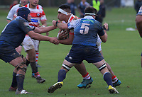 Action from the Auckland Premier club rugby match between Papatoetoe and College Rifles at Papatoetoe Rugby Club in Auckland, New Zealand on Friday, 28 April 2018. Photo: Dave Lintott / lintottphoto.co.nz