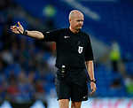 Referee Lee Mason during the Championship match at the Cardiff City Stadium, Cardiff. Picture date: August 15th 2017. Picture credit should read: Simon Bellis/Sportimage