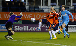 Picture by David Horn/eXtreme Aperture Photography +44 7545 970036<br /> 26/11/2013<br /> Luke Guttridge of Luton Town (2nd left) goes close but is stopped by Danny Hurst of Southport (left) during the Skrill Premier match at Kenilworth Road, Luton.
