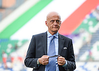 20160526 - REGGIO EMILIA , ITALY : Italian's former referee Pierluigi Collina pictured during a womensoccer match between the teams of  VFL Wolfsburg Frauen and Olympique Lyon , during the final of the Uefa Women Champions League 2015 - 2016 in Stadio citta del tricolore Stadium , Reggio Nell Emilia - Italy , Thursday 26 May 2016 . PHOTO SPORTPIX.BE / DAVID CATRY