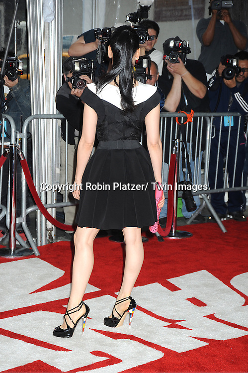 "Lucy Liu posing for photographers at The New York Premiere of .""Kung Fu Panda 2""  at The Ziegfeld Theatre on May 24, 2011."