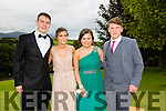 Pictured at the Presentation Tralee Debs ball at the Ballyroe Heights Hotel Thursday, were, from l-r Denis Cosgrove, Maeve Horgan, Ellen Daly and Ben O'Neill