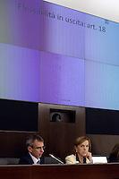 """Roma, 24 Settembre 2012.Convegno su """"Le riforme strutturali in Italia"""" oraganizzato dal Governo e dall0'Ocse Organizzazione per la cooperazione e lo sviluppo economico, che  presenta il dossier sulle riforme avviate  dal Governo Monti..La ministro del Lavoro Elsa Fornero al convegno"""