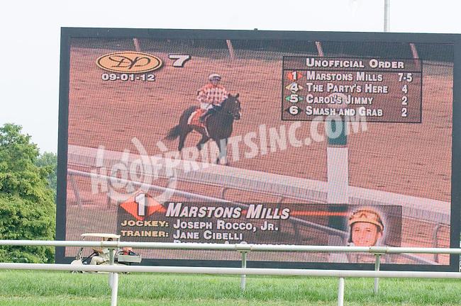 Marstons Mill winning at Delaware Park on 9/1/12