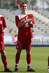 15 November 2009: NC State's Chandler Knox. The University of Virginia Cavaliers defeated the North Carolina State University Wolfpack at WakeMed Stadium in Cary, North Carolina in the Atlantic Coast Conference Men's Soccer Tournament Championship game.