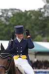 Elizabeth Power riding September Bliss during the dressage phase of the 2012 Land Rover Burghley Horse Trials in Stamford, Lincolnshire