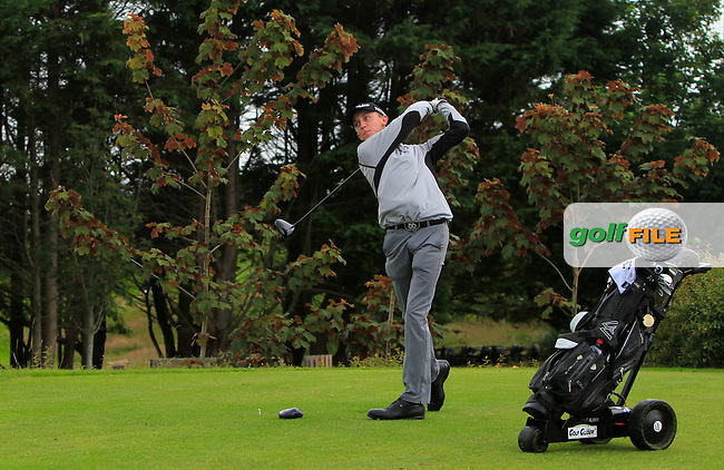 Andrew Mulhall (Waterford) on the 18th tee during R2 of the 2016 Connacht U18 Boys Open, played at Galway Golf Club, Galway, Galway, Ireland. 06/07/2016. <br /> Picture: Thos Caffrey | Golffile<br /> <br /> All photos usage must carry mandatory copyright credit   (&copy; Golffile | Thos Caffrey)